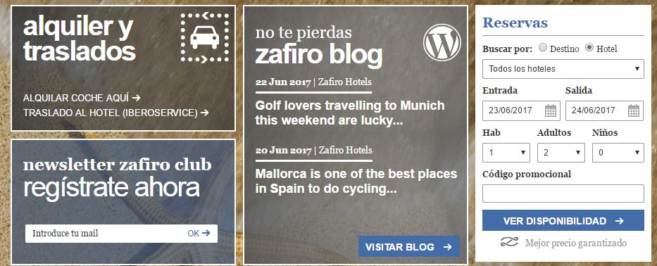 Zafiro Hoteles ofertas