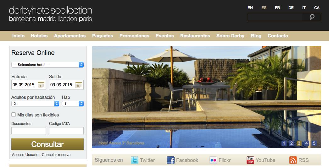 Descuento Código promoción Derby Hotels