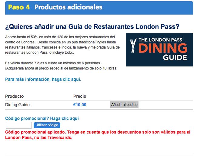 Descuento Código promocional London Pass
