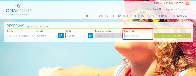 Descuento Códigos Promocionales Ona Hoteles