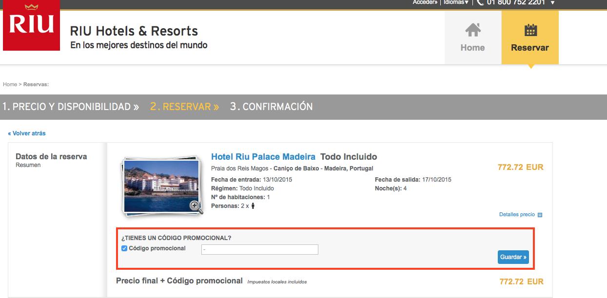 Descuento Código Corporativo Riu Hotels