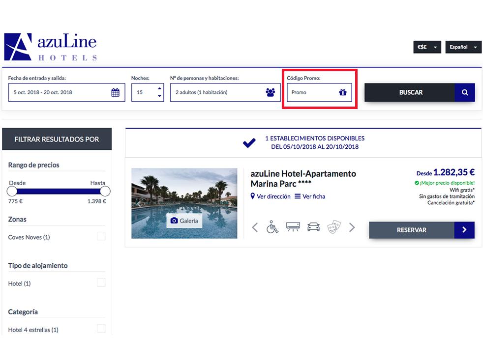 Descuento Código Descuento Azuline Hoteles