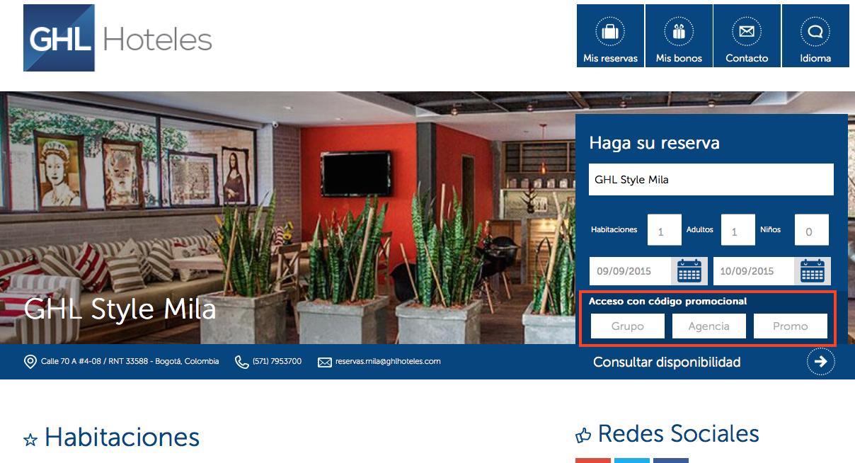 Descuento Código Promocional GHL Hoteles