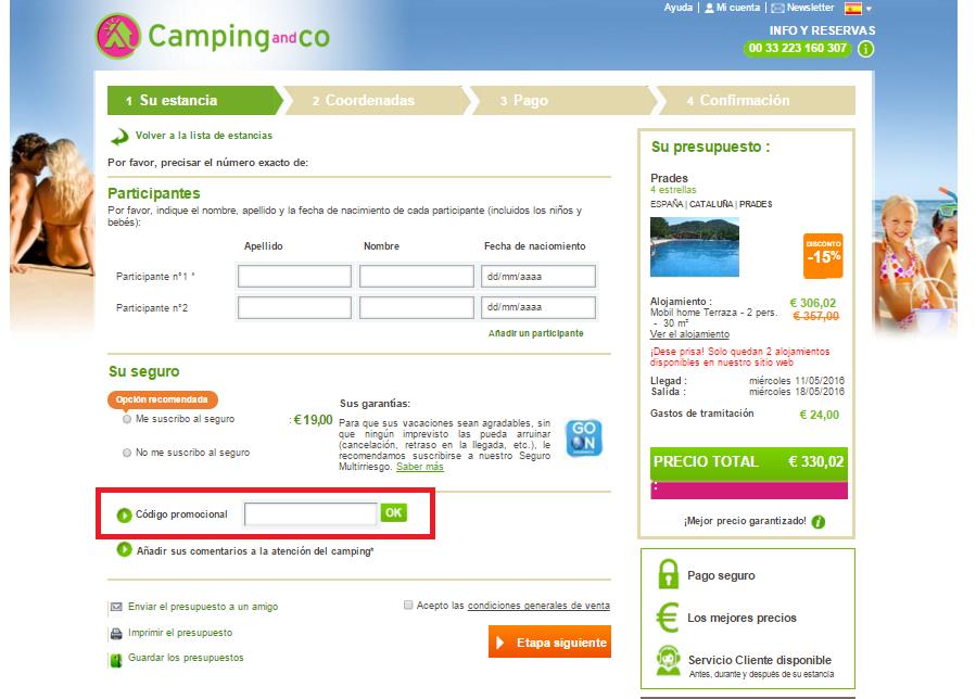 Descuento Código Promocional Camping and Co