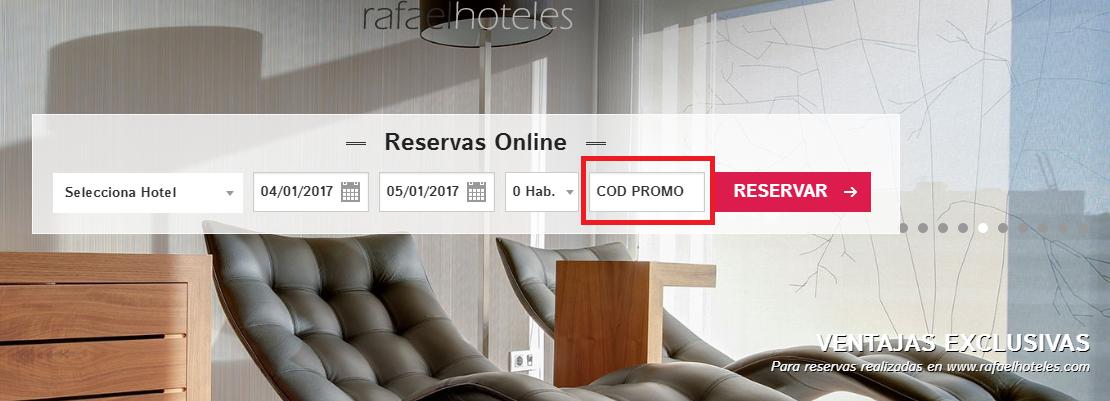 Descuento Códigos Promocionales Rafael Hoteles