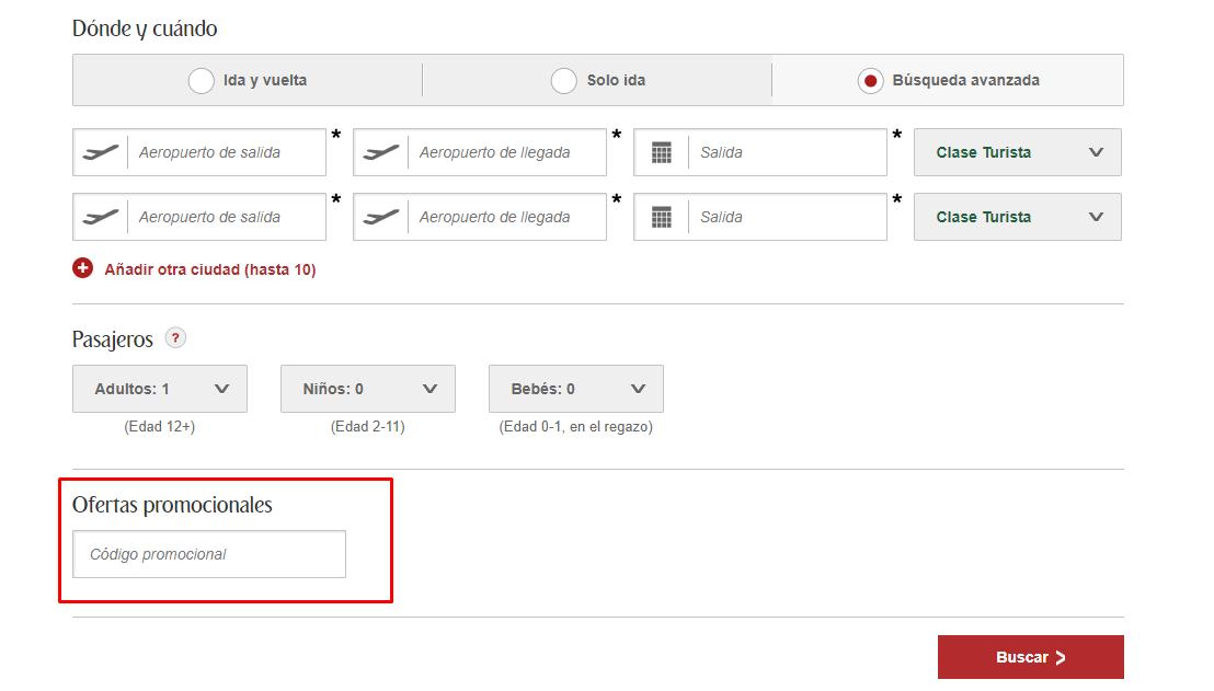 Descuento Código Promocional Emirates Airlines